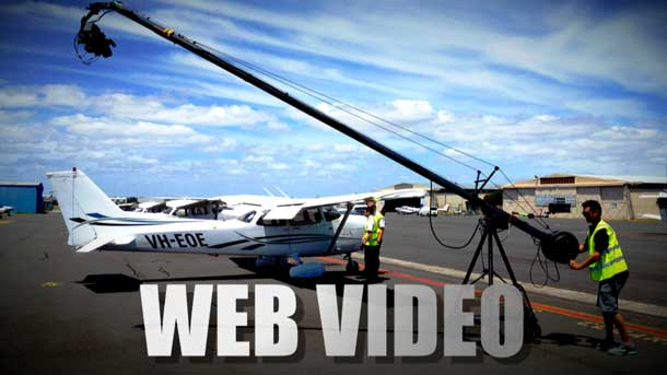 Shooting a Web Video at the airport