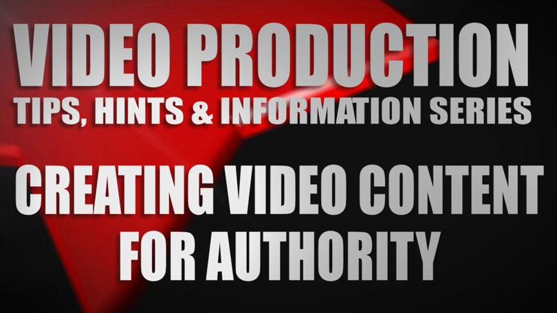 Video content for authority