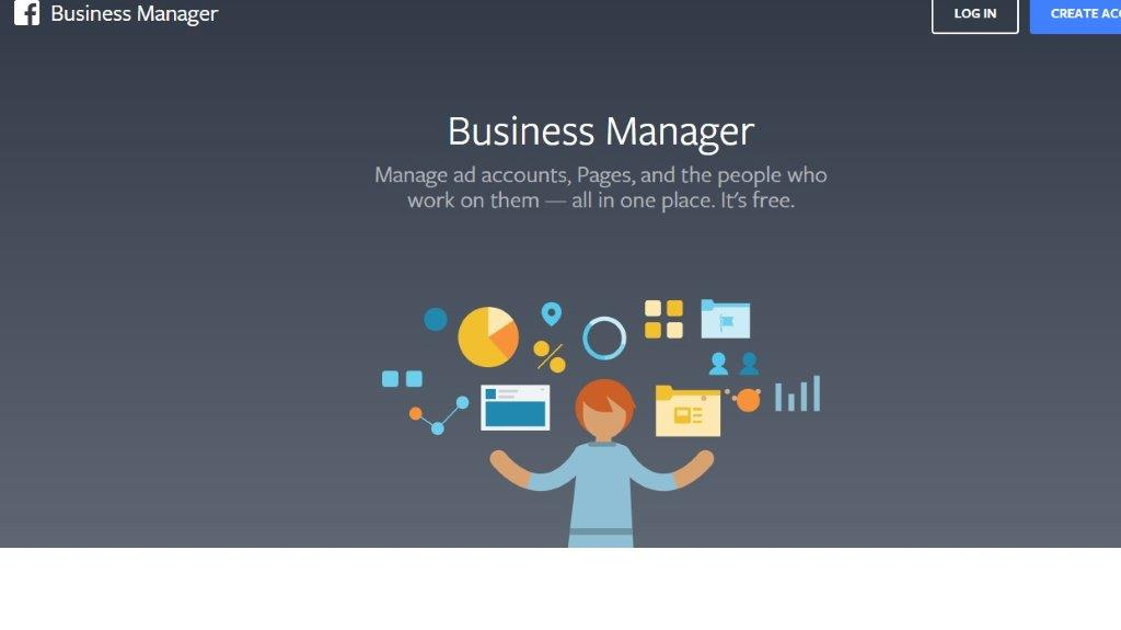 FaceBook Business Manager screen image