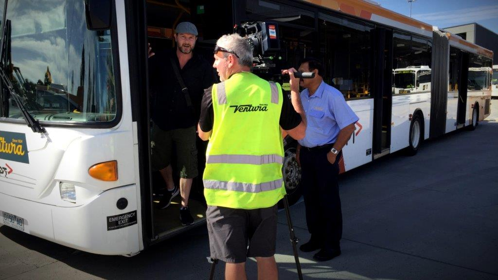 Capturing vision for bus company communication video using a sony fs7