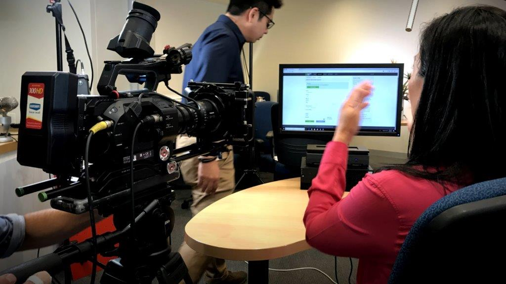 Video shoot of a software demonstration video