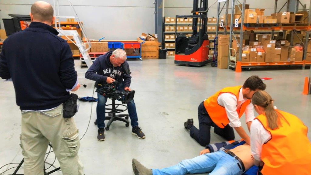 Production shoot with Actors for a defibulator training video
