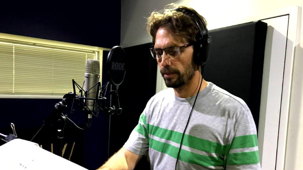 VO Artist in Studio Recording
