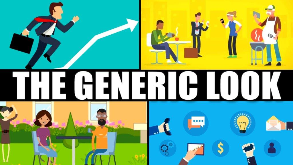 montage of generic cartoon business animations