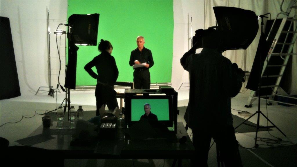 eLaring training video shoot in studio